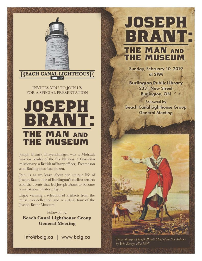 BCLG Invites You to Attend 'Joseph Brant: The Man and The Museum'