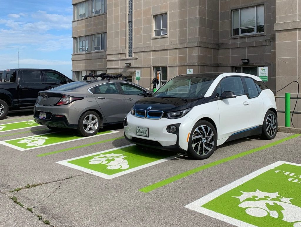 New Electric Vehicle Charging Stations at 605 James St. N