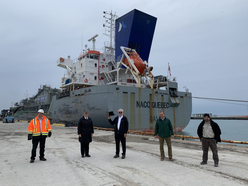 First Ship kicks off Marine Shipping Season at Port of Oshawa