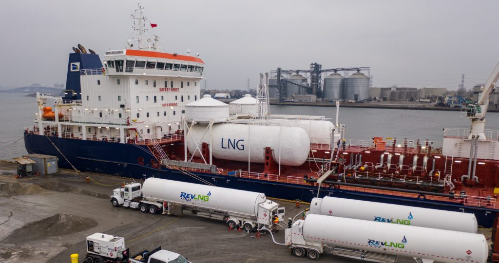 HOPA & REV LNG usher in LNG bunkering at Port of Hamilton, a first on the Great Lakes