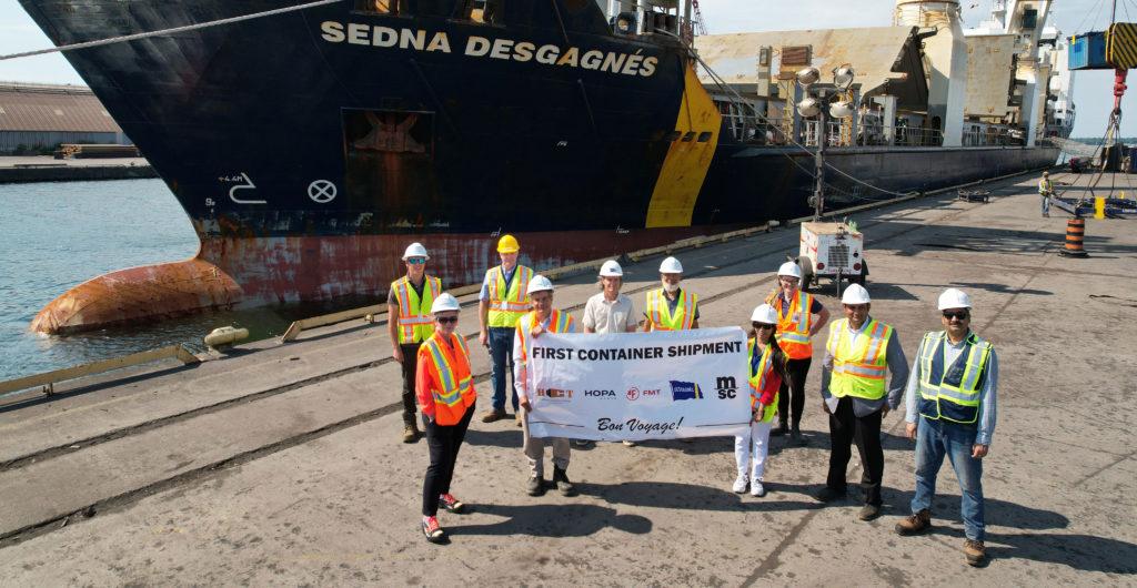 Hamilton Port Partners Launch Container Ship Service